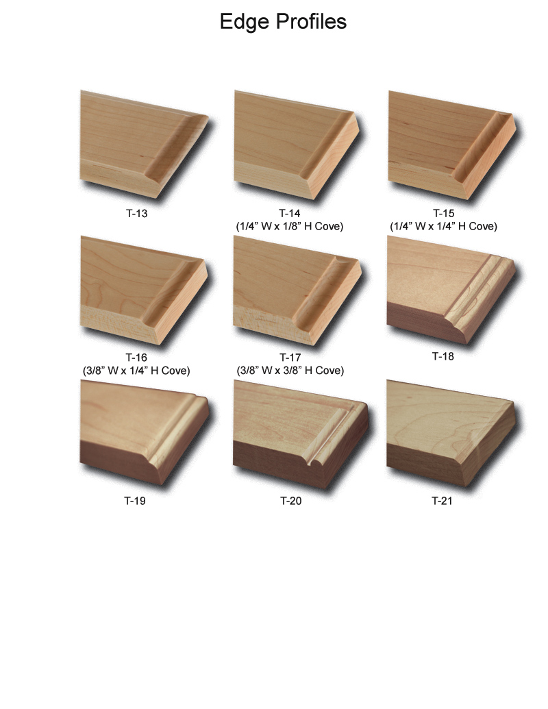 TNT Cabinet Door Details for Edge Profiles
