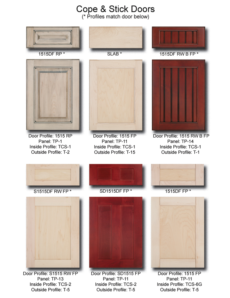 TNT Cabinet Door Details for Cope & Stick Doors