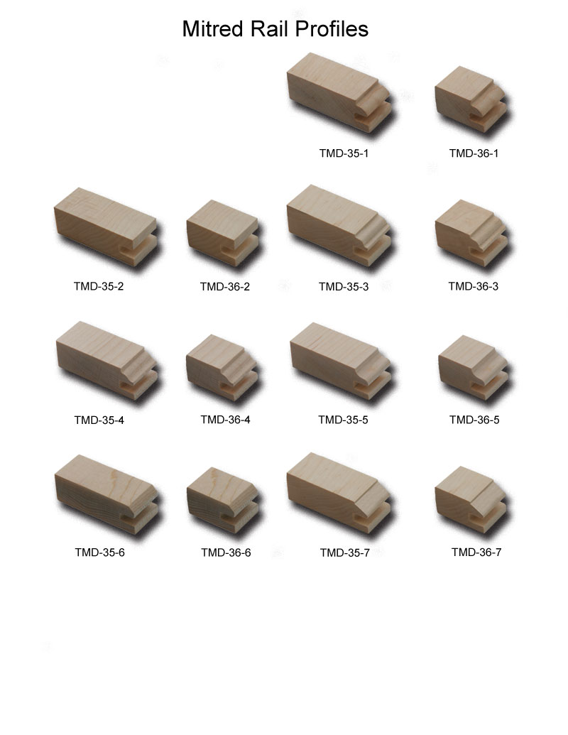 TNT Cabinet Door Details for Rail Profiles