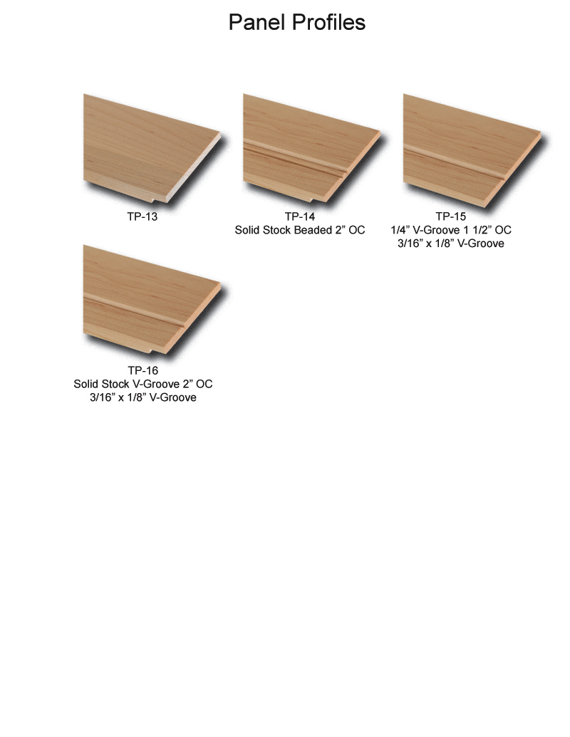TNT Cabinet Door Details for Panel Profiles