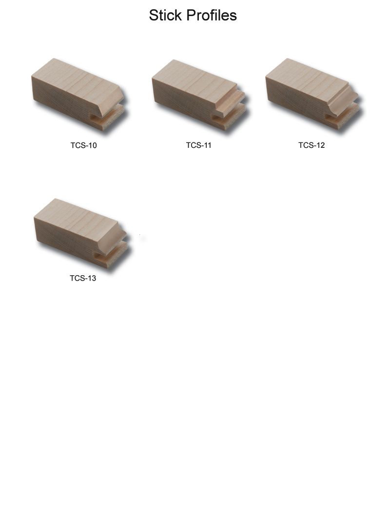 TNT Cabinet Door Details for Stick Profiles